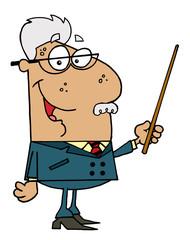 Hispanic Senior Professor Man