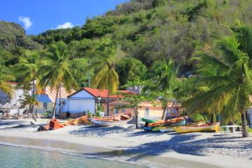 Photo sur Toile Caraibes Plage de pêcheurs - Martinique