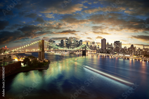 Мост огни ночь  № 3716545  скачать