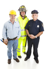 Group of Blue Collar Workers
