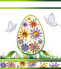 Easter Eggs With Butterflies