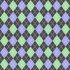 Blue&green argyle pattern