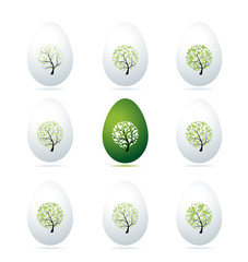 Easter eggs design, art trees