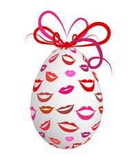 Kissed easter egg for your design