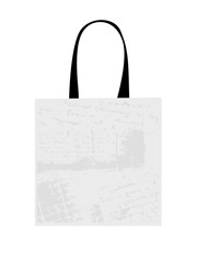 Shopping bag isolated with grunge pattern for your design