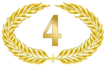 jubiläum 4 button lorbeer schleife geburtstag gold