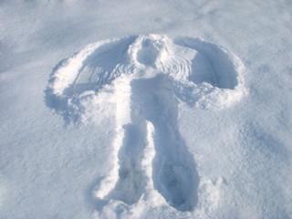 stamp on pole snow like angel wings