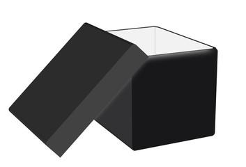 Caja en 3d aislada