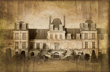 Château de Fontainebleau, style photo ancienne