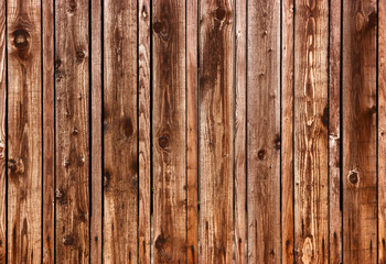 Dark wooden fence
