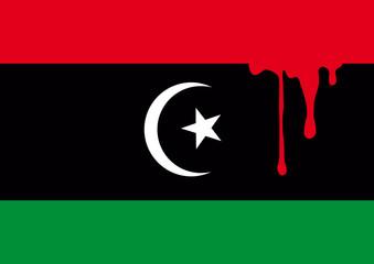 Libye_Drapeau_Sang