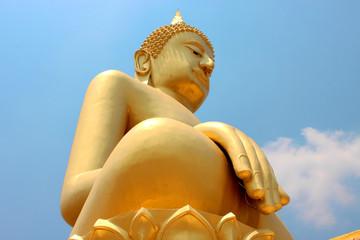 Buddha image, Wat Nhong Bua Thung - Hua Lhame, Khong, Korat