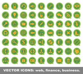 Vector icons web finance business