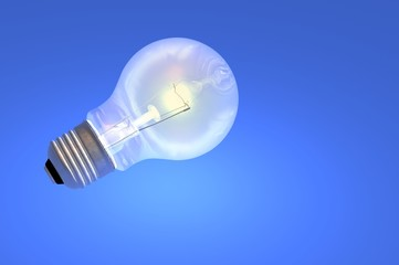 light bulb tungsten screw in render