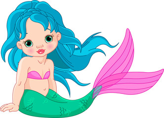 Wall Murals Mermaid Mermaid baby Girl