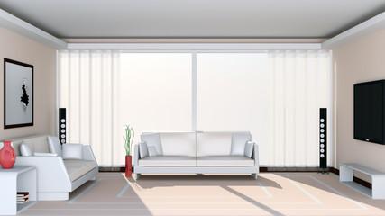 Modern Living Room. 3d Image