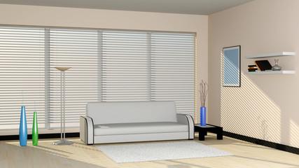 Modern interior in light tones