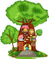 Spoed Foto op Canvas Bosdieren Tree house