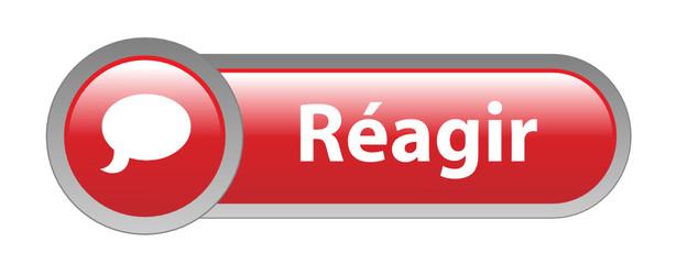 Bouton Web REAGIR (réaction forum opinions partager commentaire)