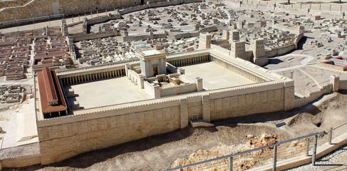 Fotobehang Temple The model of Temple in Jerusalem