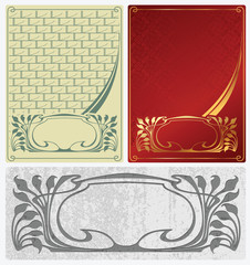 Abstract backgrounds in style art-nouveau
