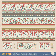 Vector seamless pattern in antique style