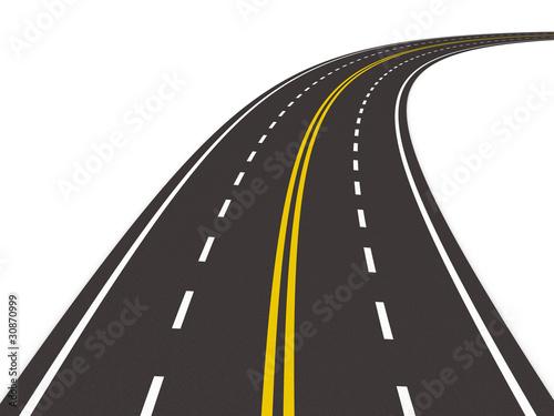 Рисунок дорога с разметками