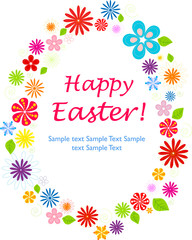 Fully Editable Happy Easter Greeting Card - Floral