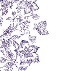 Floral pattern ink