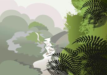 Mist in the jungle