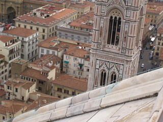 Florence - aerial view from the top of the Cathedral dome (Brunelleschi's dome)