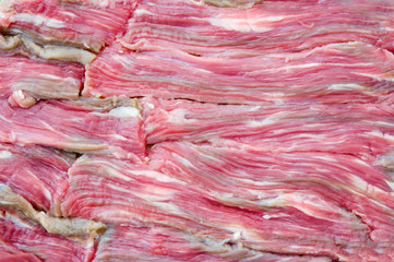 Texture of raw meat