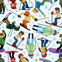 seamless ski pattern
