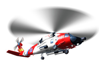 Helicopter coast guard isolated
