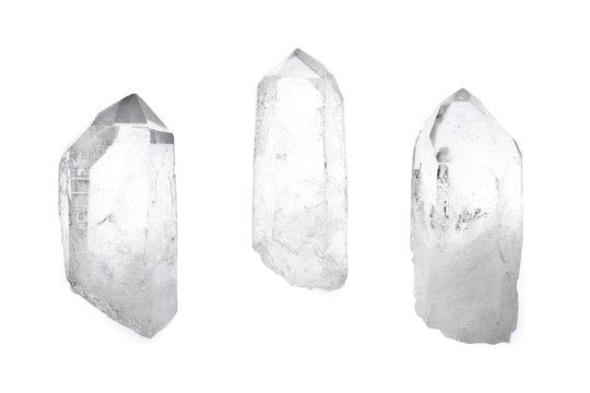 Three quartz crystals