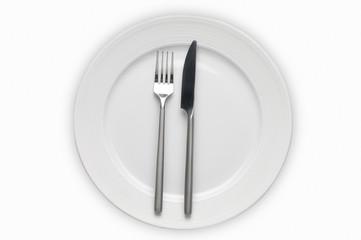 Cubierto con placa, plato,cuchillo y Tenedor