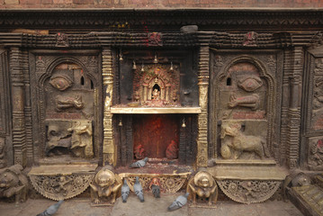 Bronze Goddess at Hindu temple in Nepal 4.