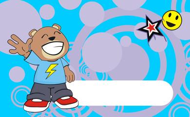 teddy bear kid cartoon background3