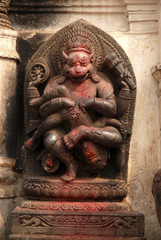 Stone Carving of Hindu God 3.