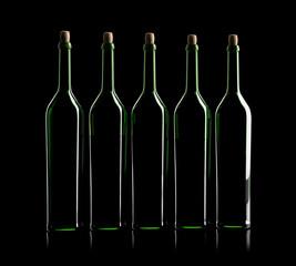 5 Weinflaschen