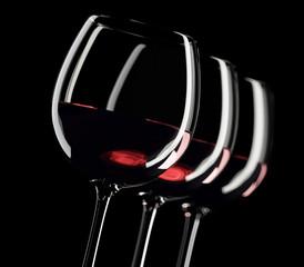 3 Rotweingläser