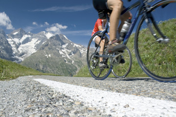Cycling in the french Alps, tour de