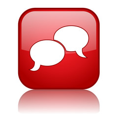 CHAT Web Button (share like social networking speech bubbles)