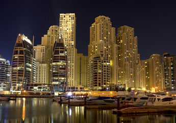 Night panorama of modern city