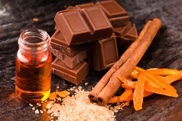chocolate with orange and cinnamon