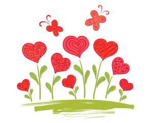Flowers-Hearts
