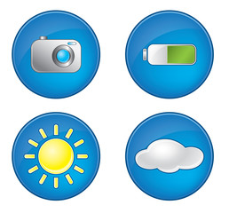 Photography icons vector set