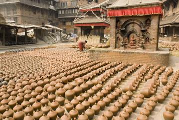 Bhaktapur pottery square.