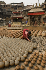 Pottery making, Bhaktapur.