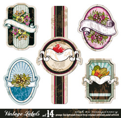 Vintage Labels Collection -Set 14